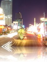The Las Vegas Strip at night looking North